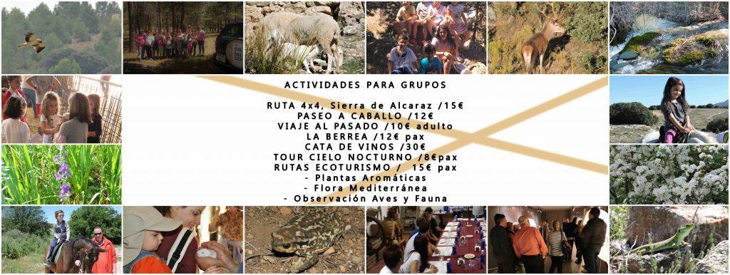 Actividades y excursiones. Experiencias únicas. Romería del Cristo del Sahuco. Rutas a caballo. Observación Astronómica. Rutas de senderismo en Albacete.